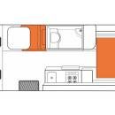 Australian Venturer Campervan Night Floorplan