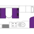 Australian Traveller Campervan Day Floorplan