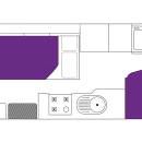 Australian Traveller Campervan Night Floorplan