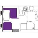 New Zealand Cruiser Campervan Day Floorplan
