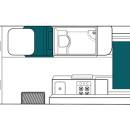 New Zealand maui Ultima Motorhome Floorplan Night