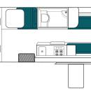 Australia maui Ultima Plus Motorhome Floorplan Day