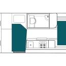 Australia maui Ultima Plus Motorhome Floorplan Night