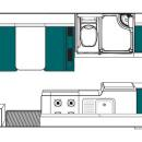 New Zealand maui Beach Motorhome Floorplan Day v3