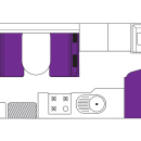 Australian Traveller Campervan Day Floorplan