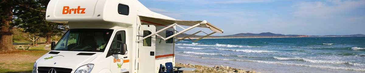 britz summer campervan holiday beachside