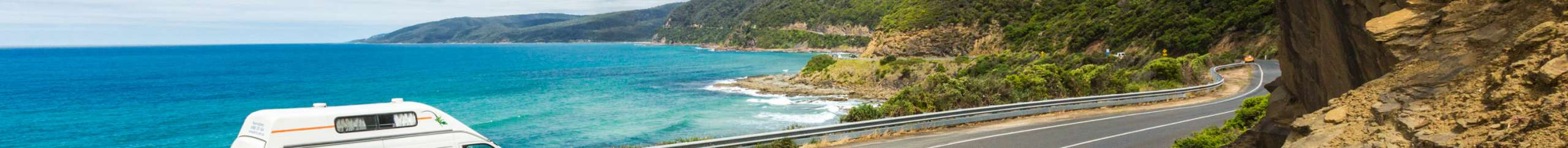 Britz Voyager coastal road drive view
