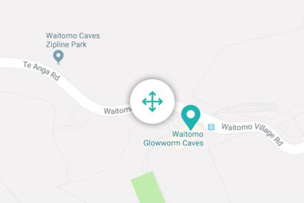 Waitomo Glowworm Caves Map