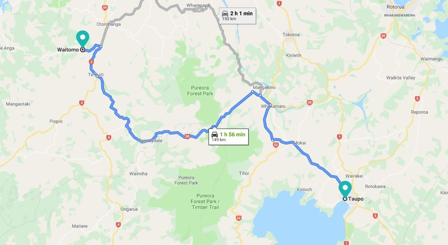 From Taupo Map