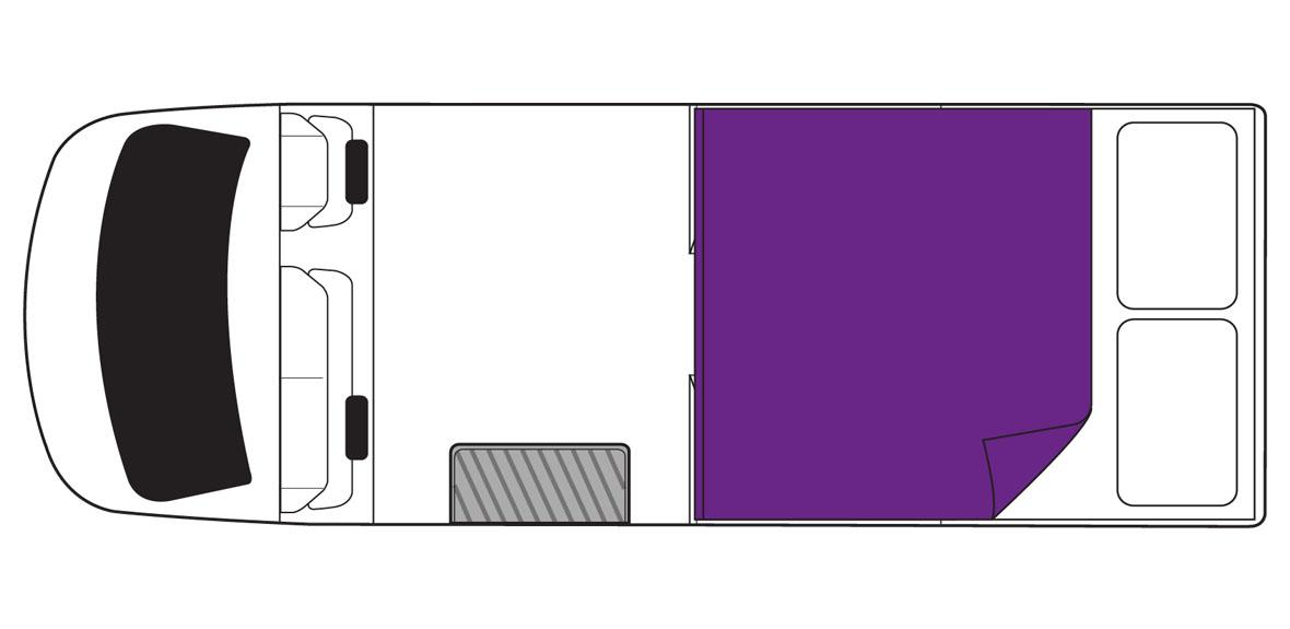 Australian Action Pod Campervan Night Floorplan