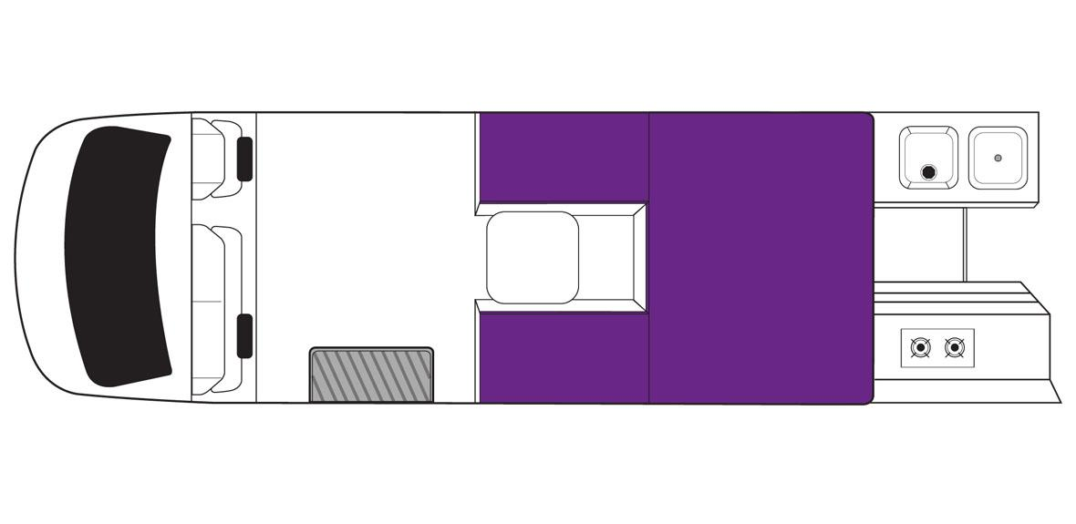 New Zealand Action Pod Campervan Day Floorplan