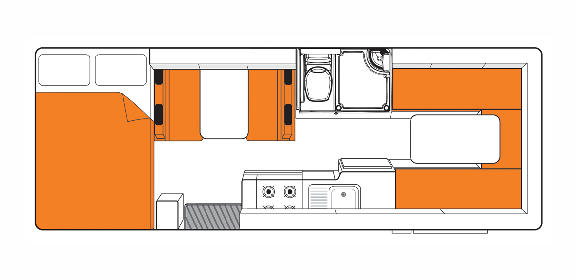 Australian Frontier Campervan Day Floorplan
