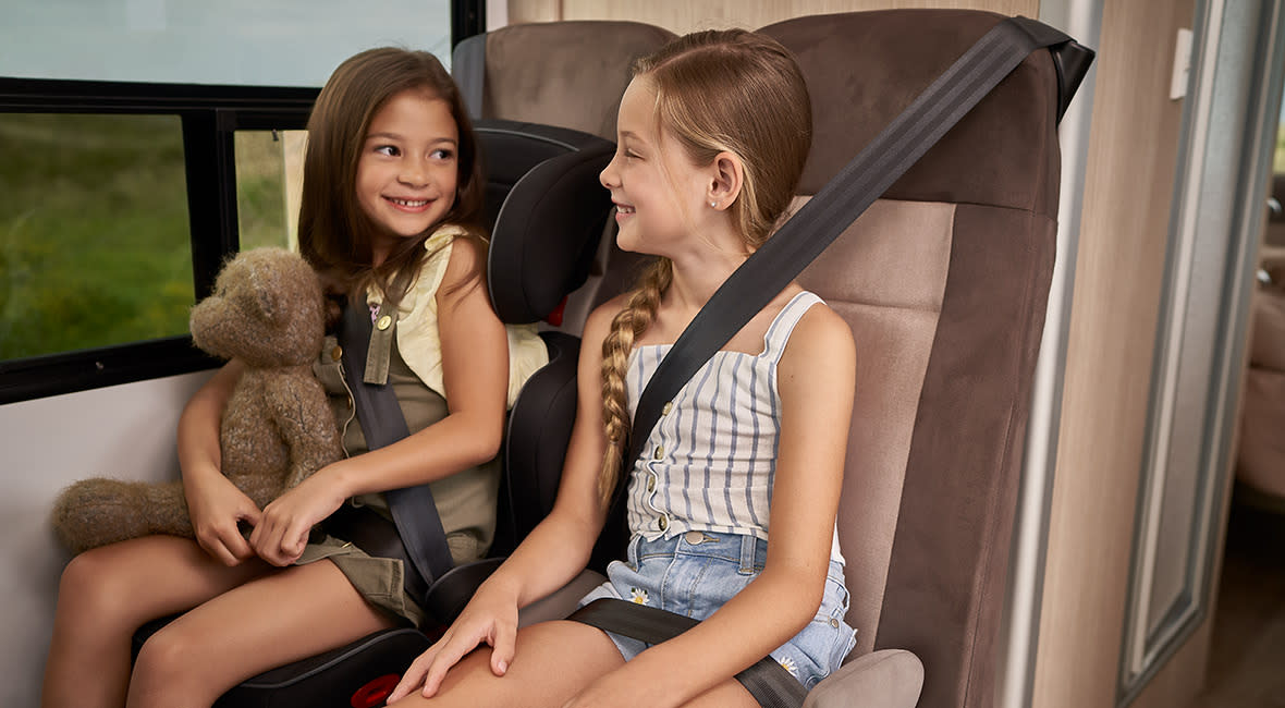 Maui Cascade 4 Berth Motorhome Interior Childseats