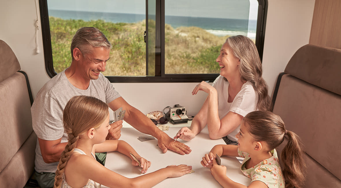 Maui Beach 4 Berth Motorhome Interior Dinette Family