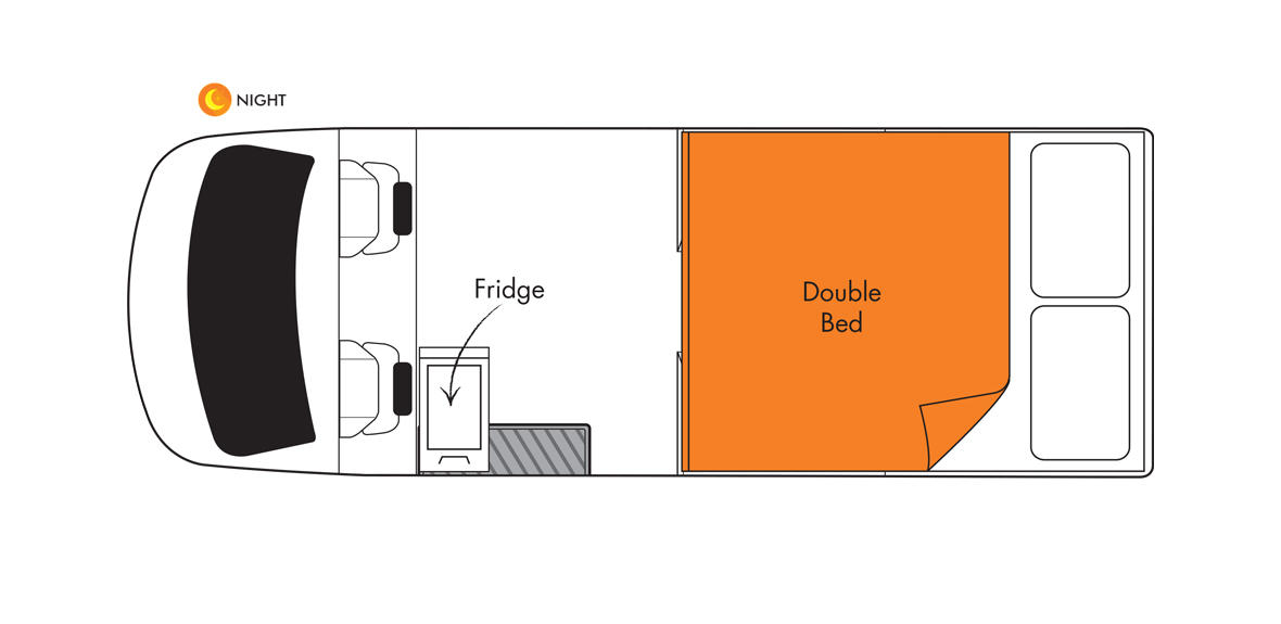 Scout Britz 4WD Floorplan Night