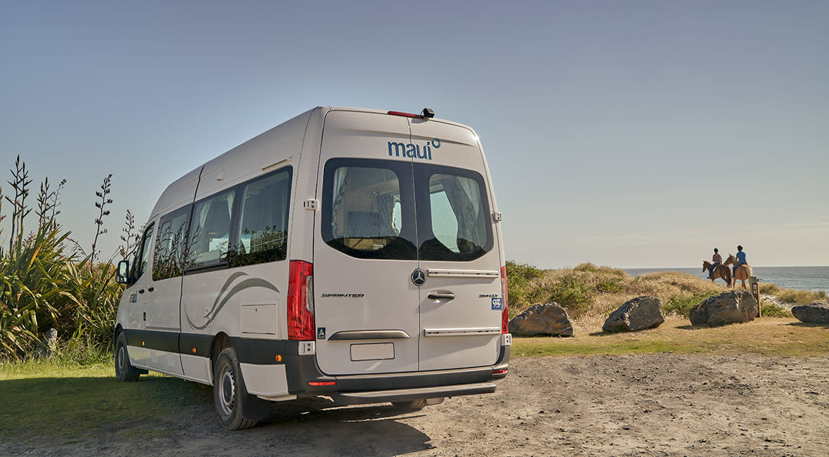 Maui Ultima Plus 3 Berth Motorhome Exterior Rear NZ