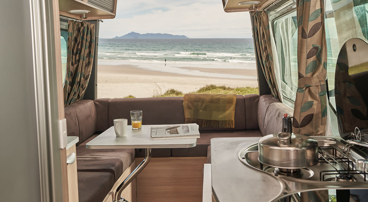 Maui Ultima Plus 3 Berth Motorhome Lounge Daytime