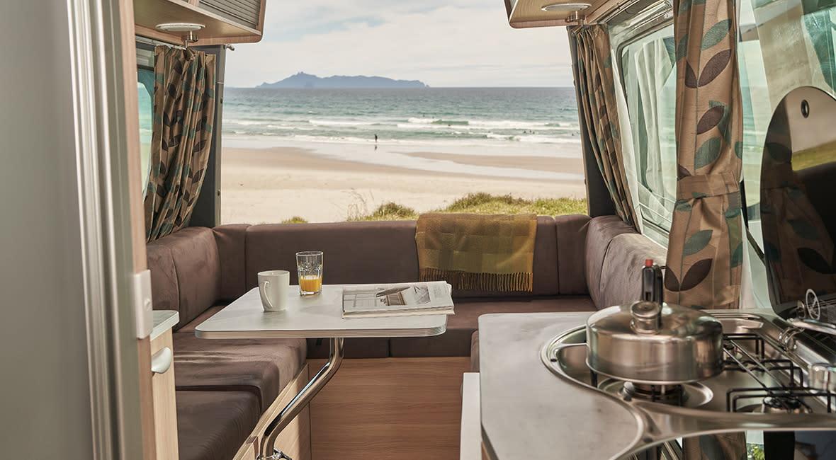 Maui Ultima Plus 3 Berth Motorhome Lounge Daytime