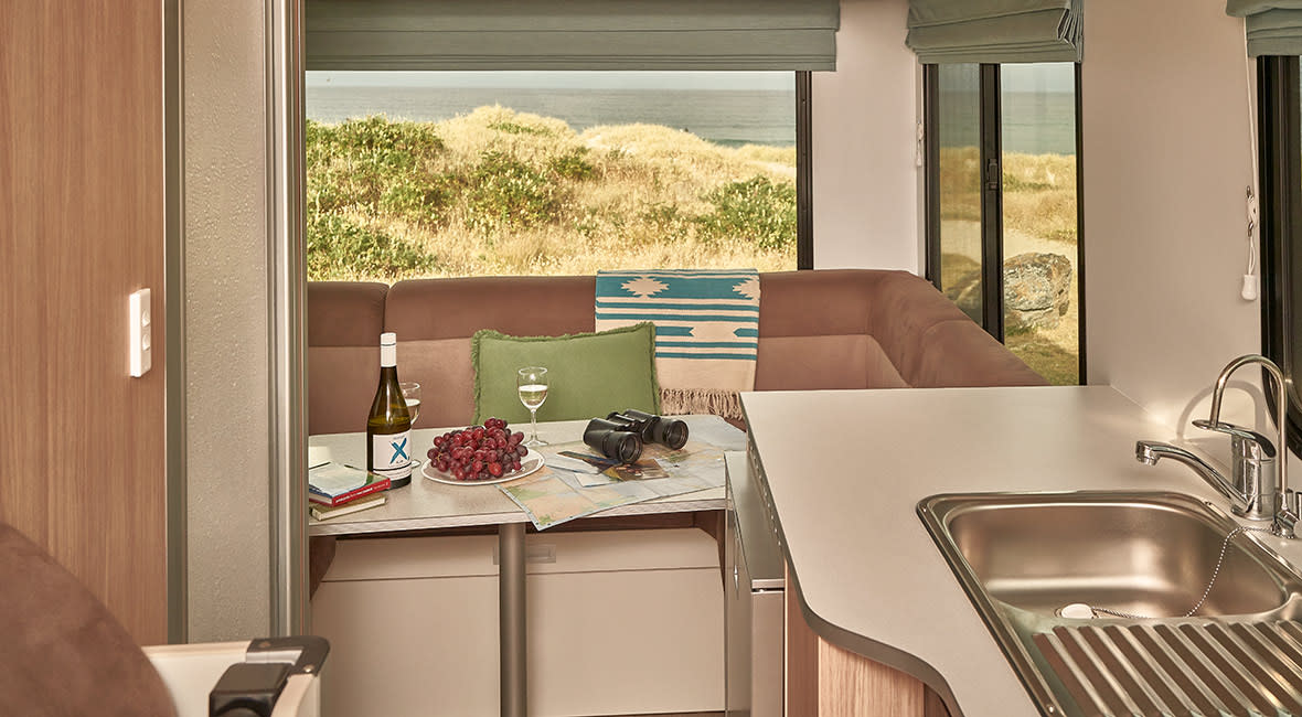 Maui Beach 4 Berth Motorhome Interior Dining Area
