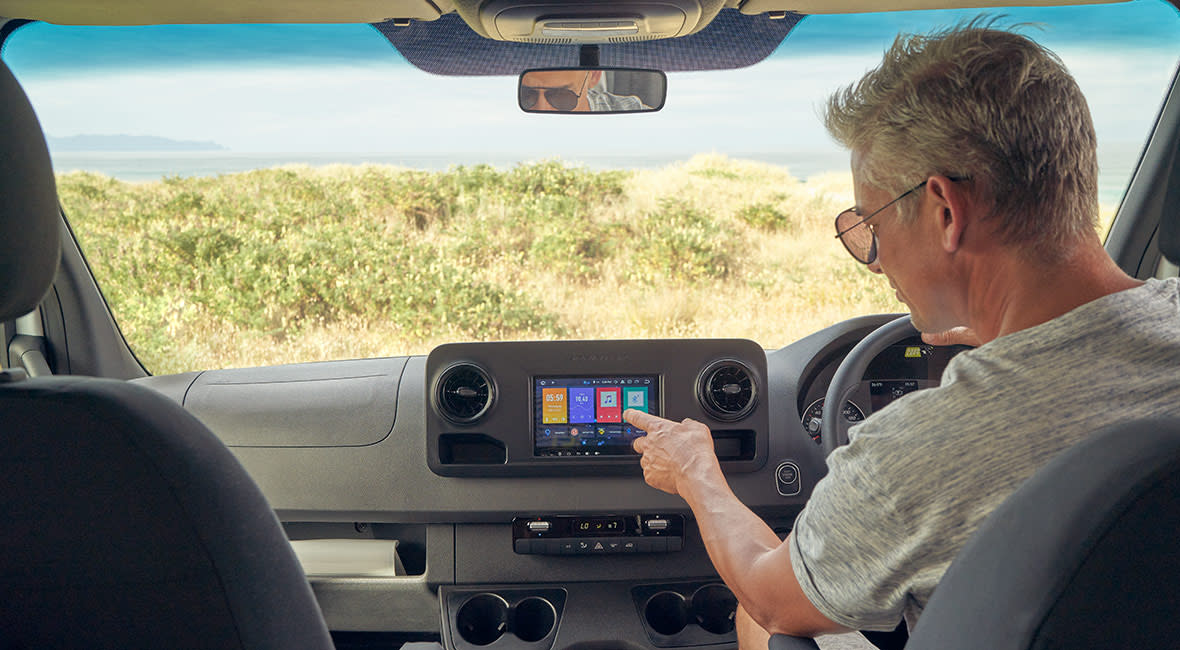 Maui River 6 Berth Motorhome In Vehicle Tablet