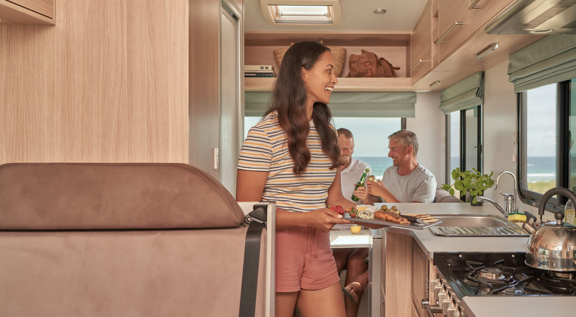 Maui River 6 Berth Motorhome Interior Kitchen