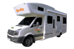 Side profile of the Britz 4 - 6 Berth Frontier Campervan
