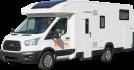 Side profile of the Britz 4 Berth Cruiser Campervan