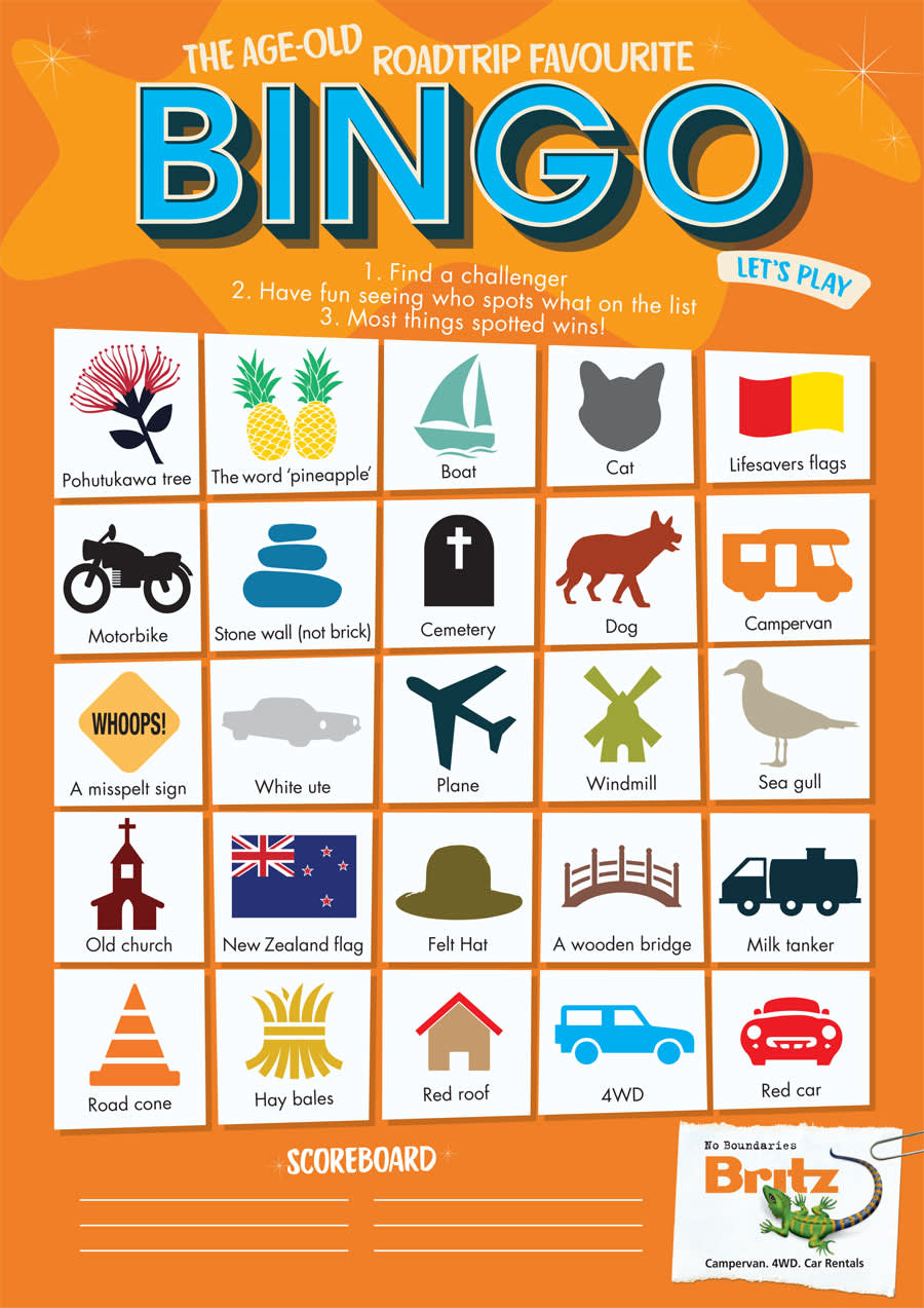 It's just a graphic of Impertinent Car Bingo Game