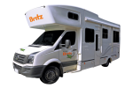 Side profile of the Britz 6 Berth Frontier Campervan