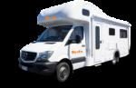 Side profile of the Britz 6 Berth Traveller Campervan