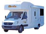 Side profile of the Britz 4 Berth Explorer Campervan