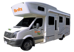 Side profile of the Britz 4 Berth Explorer Campervan