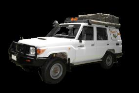 Side profile photo of the Britz 5 Berth Safari Landcruiser 4WD Campervan