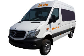 Side profile photo of the Britz 2 Berth Scout AWD Campervan