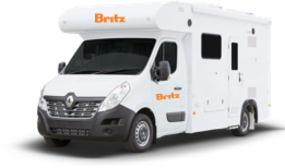Side profile photo of the Britz 2 Berth Freedom Campervan