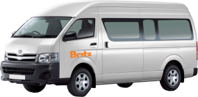 Side profile photo of the Britz 2 Berth Action Pod Campervan