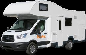Side profile photo of the Britz 6 Berth Encounter Campervan