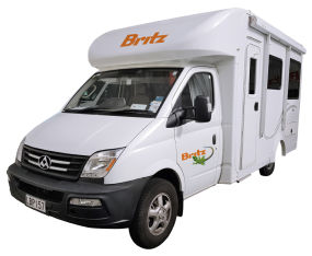 Side profile photo of the Britz 4 Berth Discovery Campervan