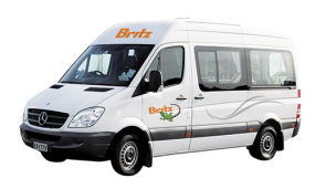 Side profile photo of the Britz 2 Berth Venturer Campervan