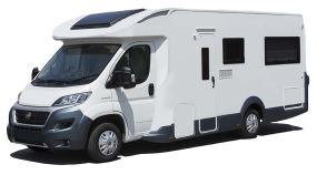 Side profile photo of the Britz 4 Berth Cruiser Campervan
