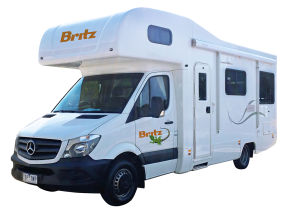 Side profile photo of the Britz 4 Berth Explorer Campervan