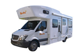 Side profile photo of the Britz 6 Berth Frontier Campervan
