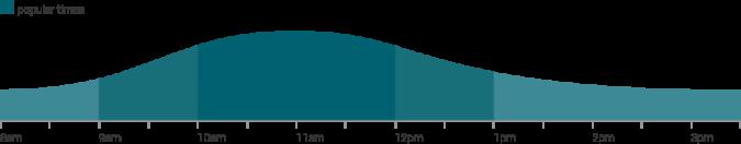 Maui Rentals  branch peak times graph