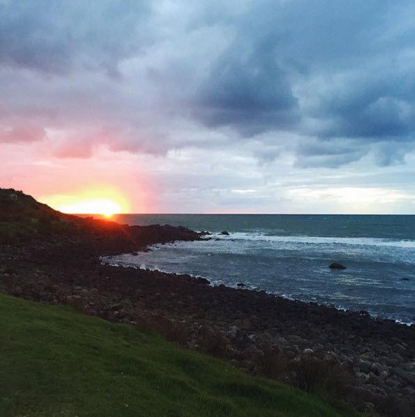 raglan sunset new zealand