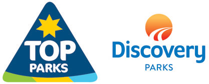 Discovery Holiday Parks and Top Parks logos