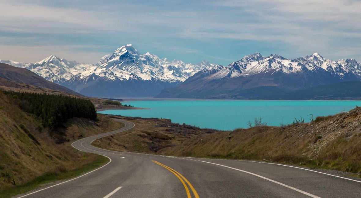 Mount Cook Landscape New Zealand
