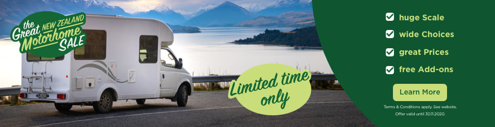 great new zealand motorhome sale banner