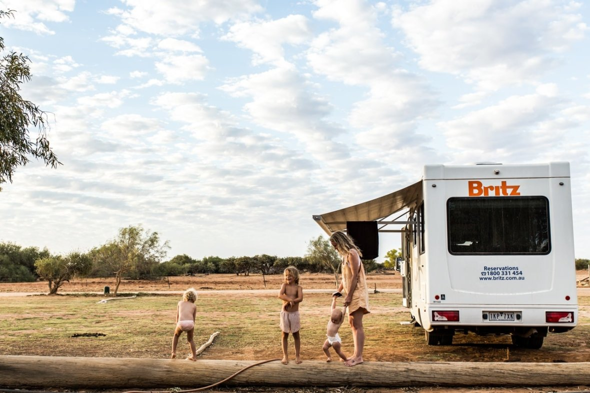 britz campervan family holiday wa