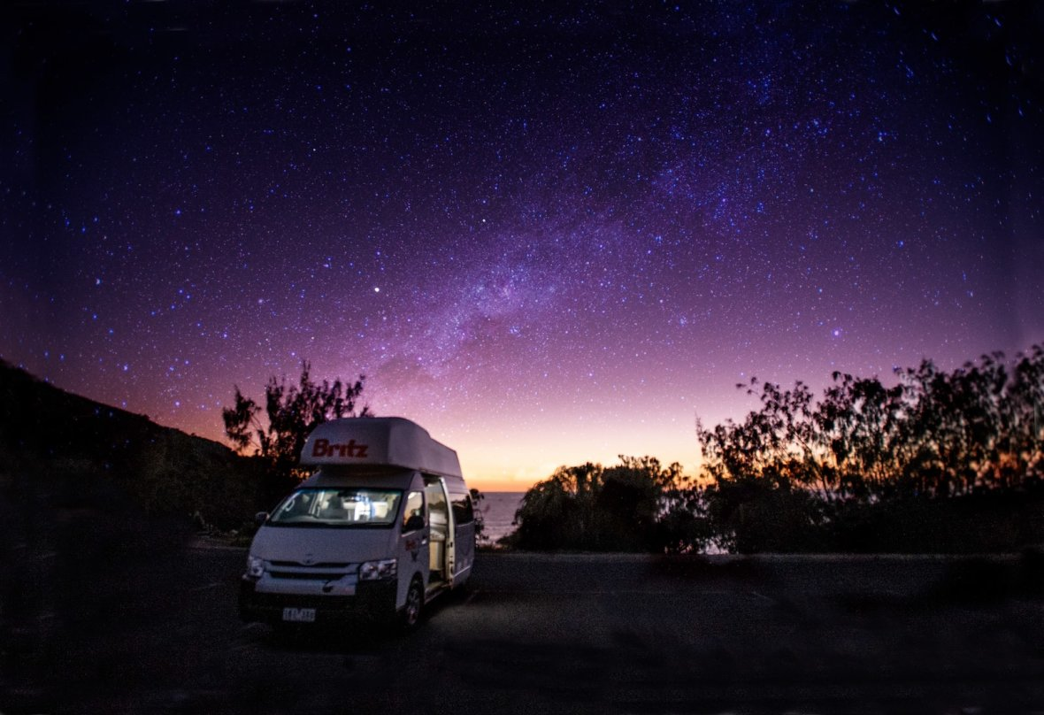 Britz campervans Queensland Cape Hillsborough
