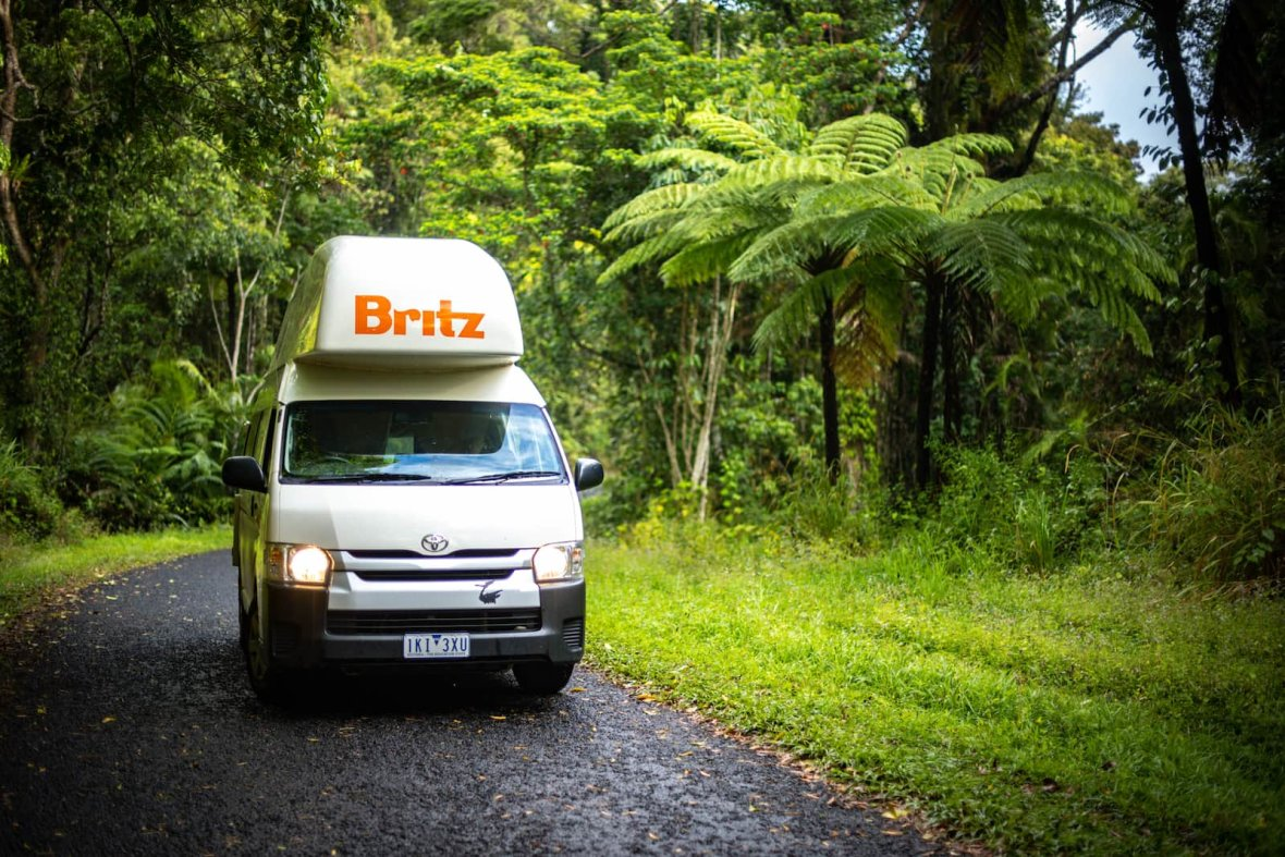 Cape tribulaiton Britz campervans